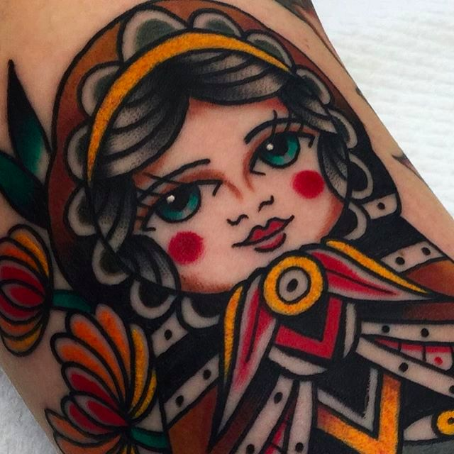 Elegant Traditional Tattoos by Ben Hastings