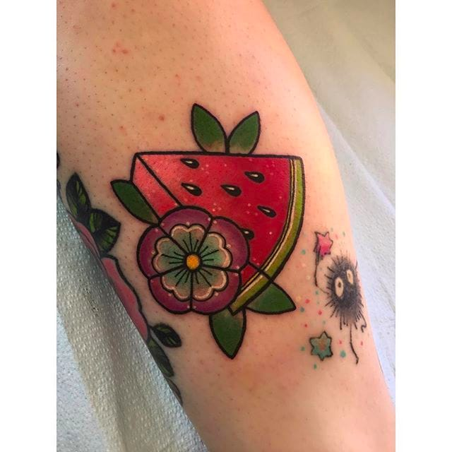 15 Cool And Refreshing Watermelon Tattoos