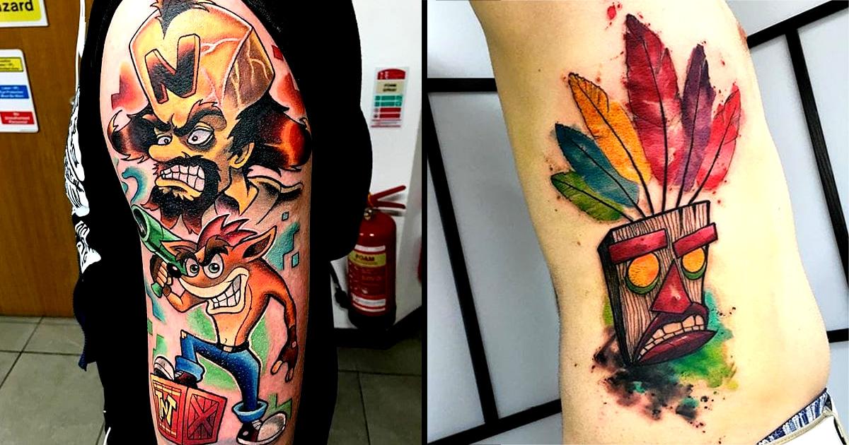 11 animated crash bandicoot tattoos tattoodo for Crash bandicoot tattoo