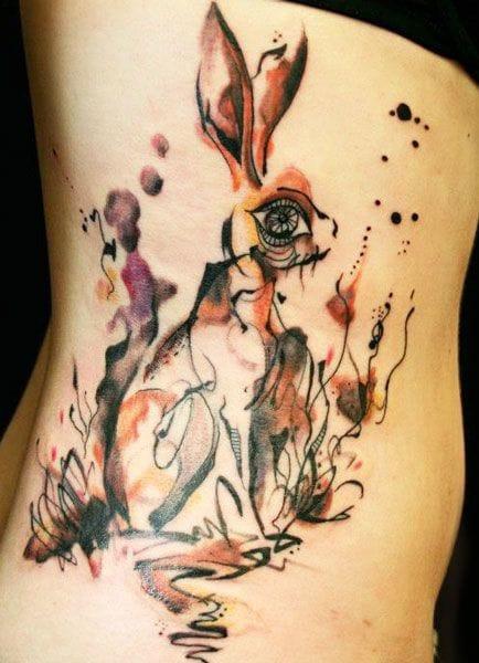 Trippy tattoo by Petra Hlavackova.
