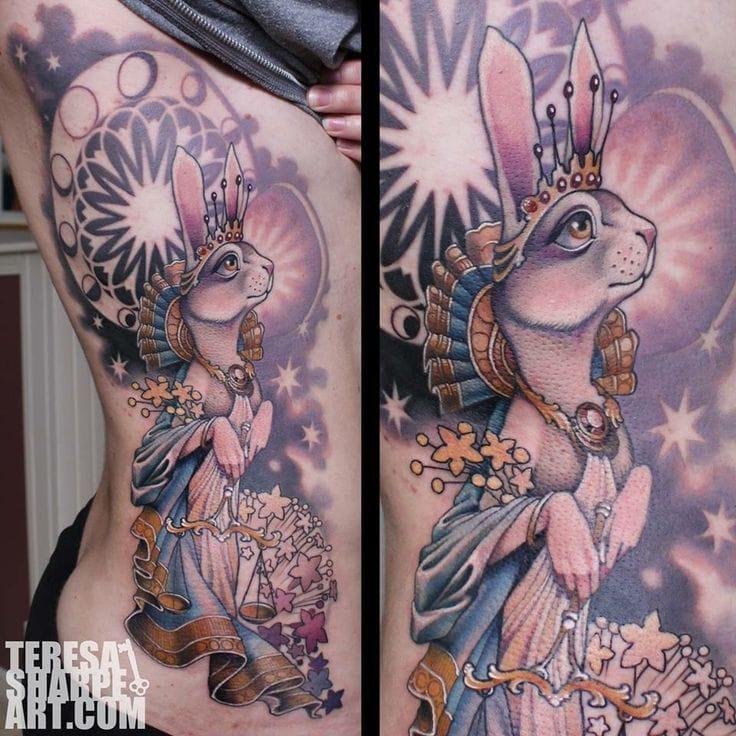 Mythological rabbit by Teresa Sharpe.