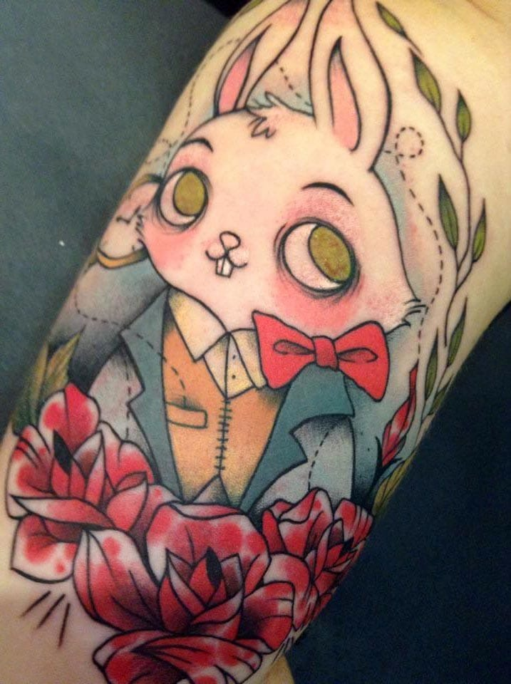 I had the privilege to see this tattoo in reality, and it's a winner! By Virginie B. of La Brûlerie.
