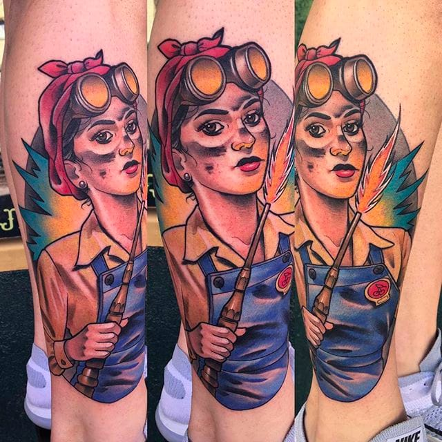 Character Portraits With Attitude: Awesome Tattoos By Debora Cherrys