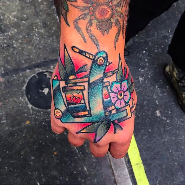 Chris Papadakis' Bold and Vibrant Traditional Tattoos