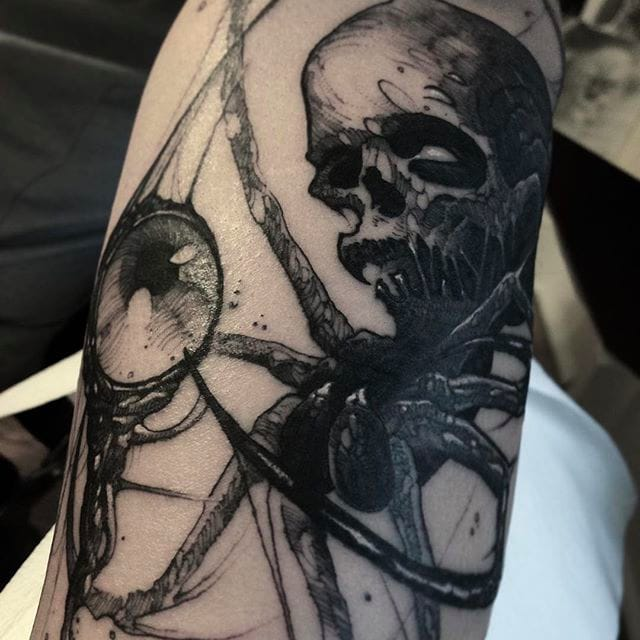 Gruesome And Awesome Dark Tattoos By Brandon Herrera