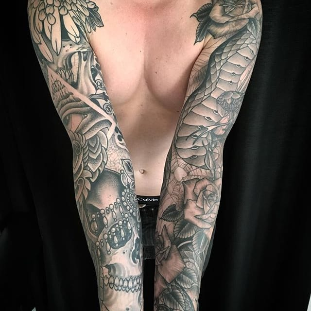 Sensational Black and Grey Tattoos by Zac Scheinbaum