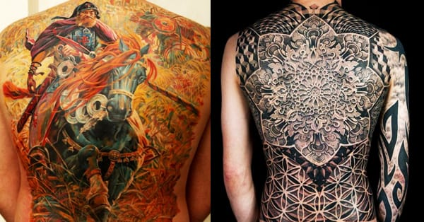 Jaw Drop Girl Tattoo Roses: Jaw-Dropping Back Tattoos Part 1