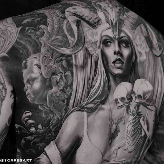 Carlos Torres' Stunning Black and Grey Tattoo Work