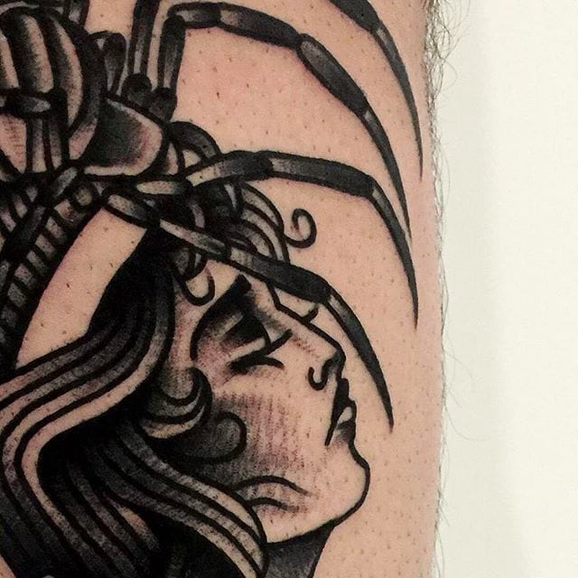 Levi Rivoire's Bold Black and Beautiful Traditional Tattoos