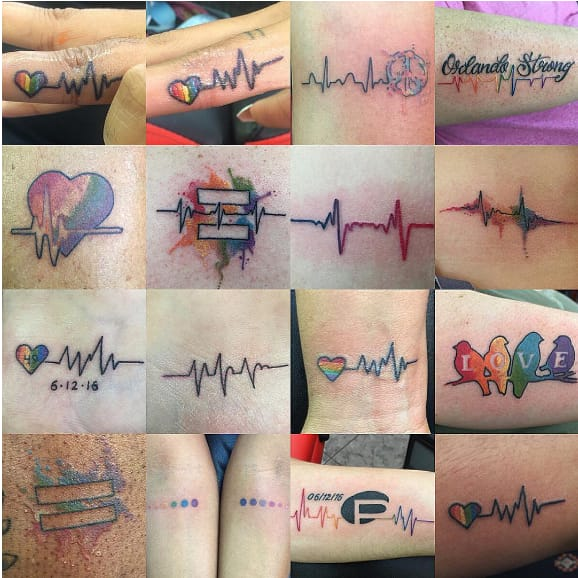 100's Of Americans Are Getting Tribute Tattoos After Orlando Shootings