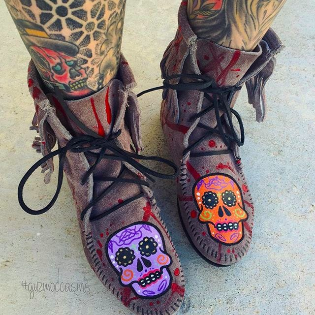 Hand-painted by Lil Guz: Super Cool Tattooed Shoes