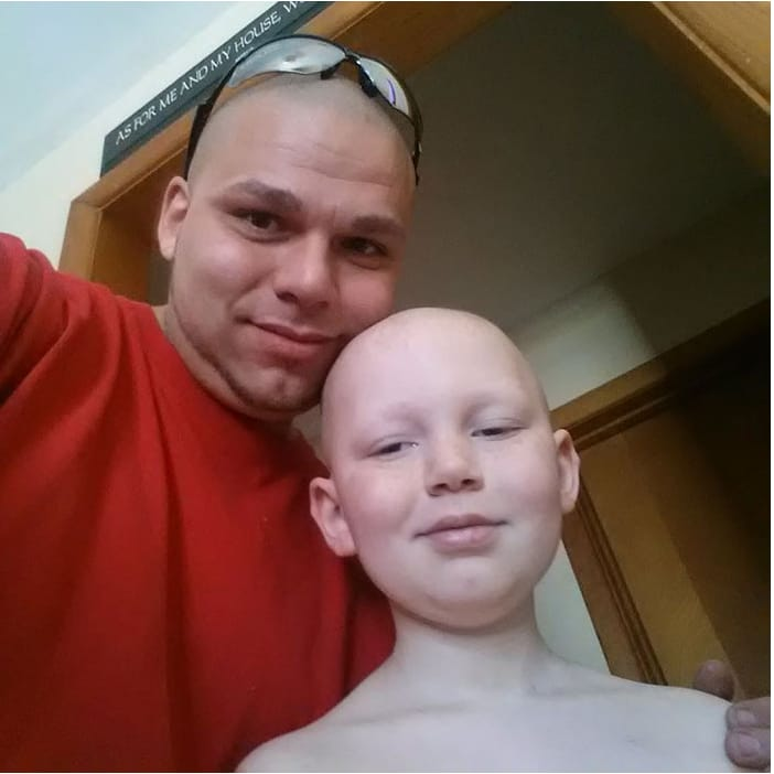 Dad Of The Year Gets Tattoo To Support His Cancer Surviving Son!
