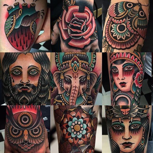 Top Class Traditional Tattoos by Manuel Sierra Izquierdo