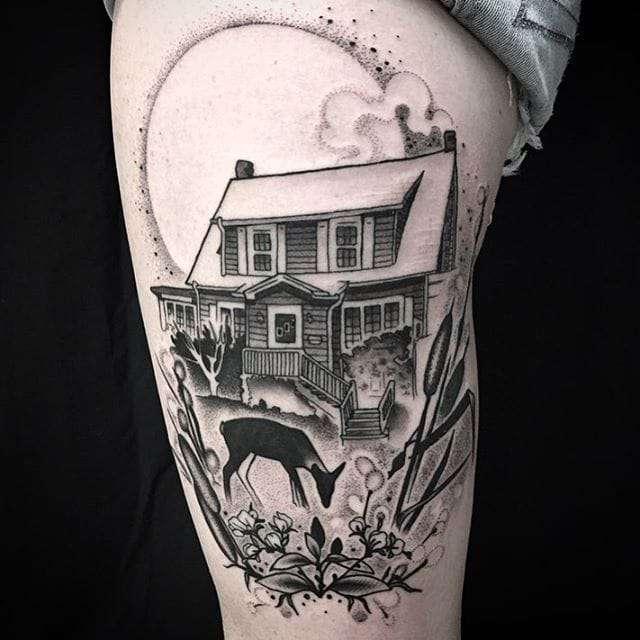 20 Wistful House Tattoos: You're Never Too Far From Home