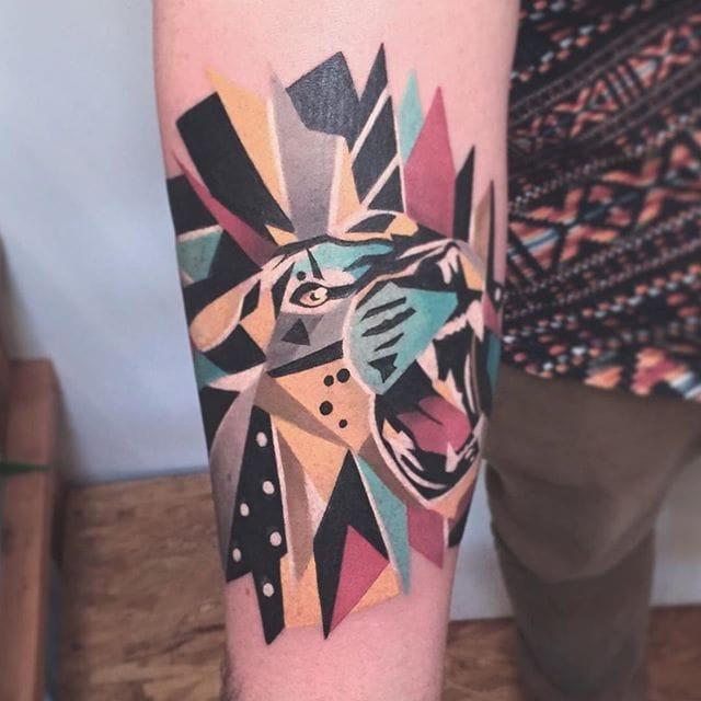 Fierce Geometric Animal Tattoos by Karl Marks