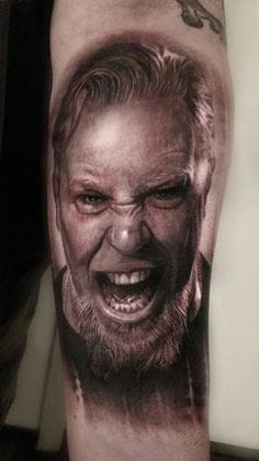 Beautiful done portrait of James Hetfield By Mike Dargas.