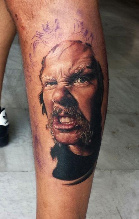 Portrait of James Hetfield By Roza - Sake Tattoo Crew.