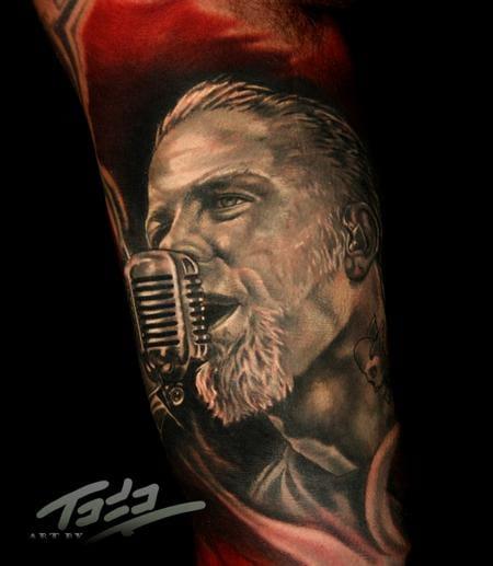 Nice realistic portrait of James Hetfield - By Todo, ABT-Tattoo.