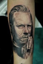 A praying James Hetfield - By Kiko - Kiko Tattoo.