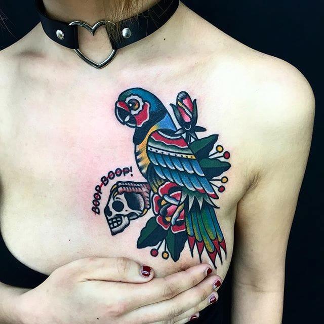 15 Ravishing and Vivacious Parrot Tattoos