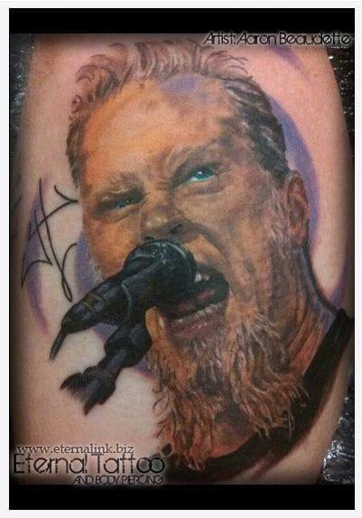 James Hetfield - Done by Aaron Beaudette - Eternal tattoo body piercing.