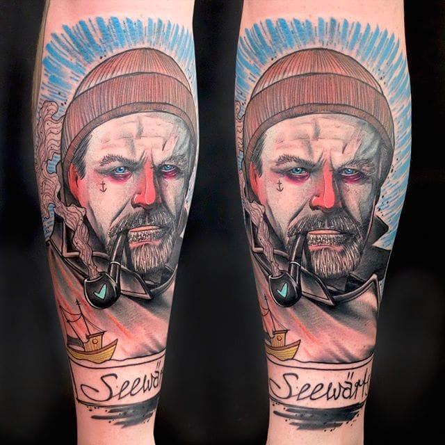 The Soft Pastel-Inspired Portrait Tattoos of Schwein