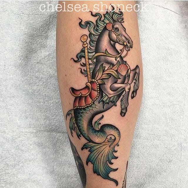 10 Oddly Charming Seahorse Tattoos