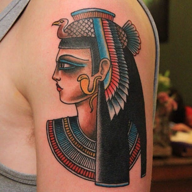 Old school Isis by Jaclyn Rehe: it's a great style for Egyptian tattoos.