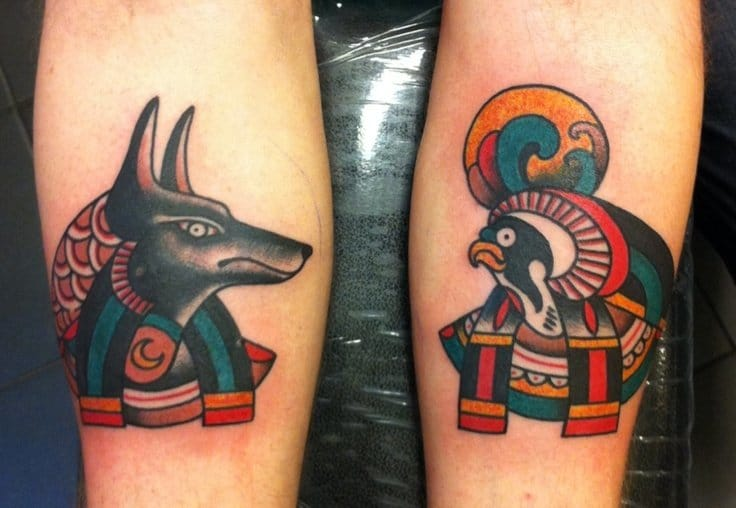 Old school Anubis and Horus by Michele L'Abbate.