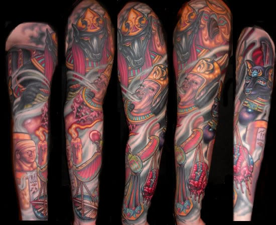 Sleeve of the weighing of the heart by Sean Zee.