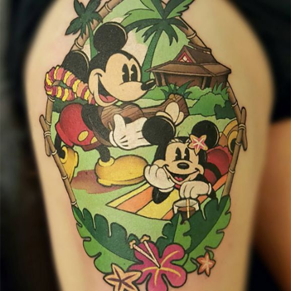 Mickey Cartoon Tattoo #mickeymouse #Mickey #disney #cartoon #MaeLaRoux