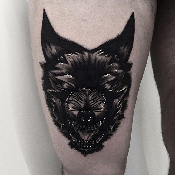 Dangerously Dark Blackwork Tattoos by Rud De Luca