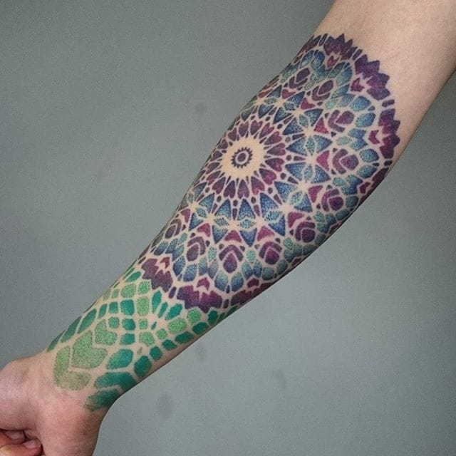 Irresistible Geometric & Dotwork Tattoos by Deryn Stephenson