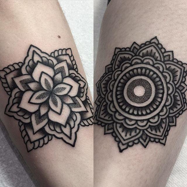 15 Beautiful Blackwork Mandala Tattoos by Mark Jelliman