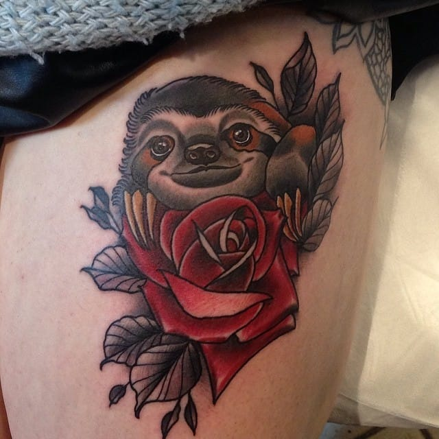 Let's start with this cutie on a thigh by Brad of the Piercing Urge.