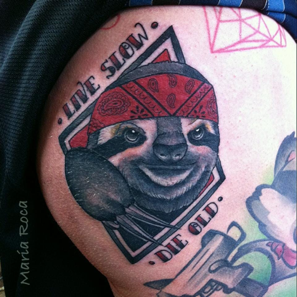 Gangsta sloth by Maria Roca...