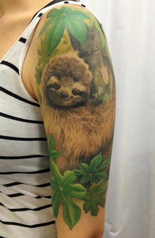 Realistic acrobat sloth by Ryan Flaherty.