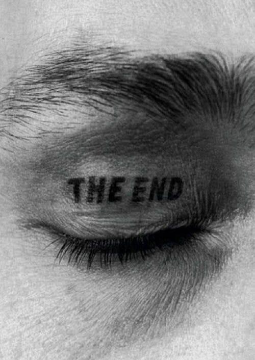 The end eyelid tattoo