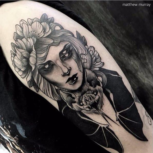 The Gothic Tattoos Of Matthew Murray