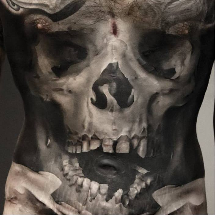 The Macabre Black And Grey Tattoos of Neon Judas
