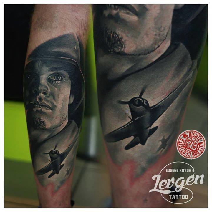 Another gorgeous war tattoo by Eugene Knysh.