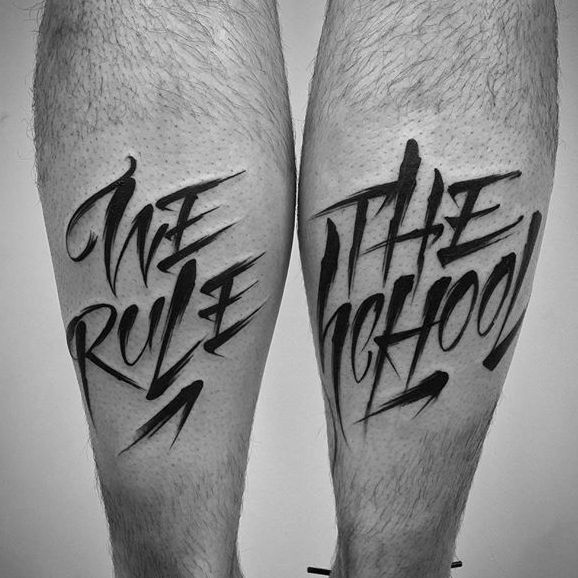 Versatile Lettering Tattoos By Rae Martini