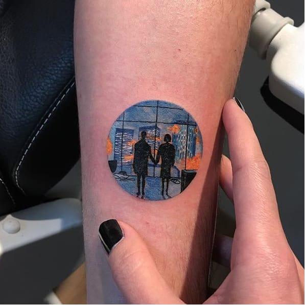 18 Wonderful Scenery Tattoos in Miniature Circles by Eva Krbdk