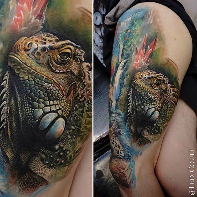 12 Excellent Iguana Tattoos