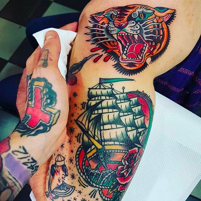 Thick and Vibrant Traditional Tattoos by Eddie Czaicki