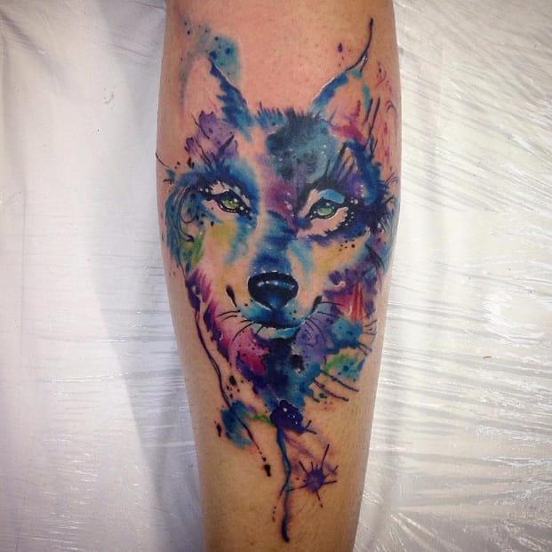 16 Tatuagens de Lobos Em Aquarela E Seus Diversos Significados