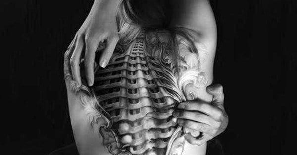 13 Badass Realistic Biomech Tattoos
