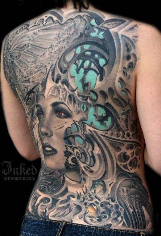 Tattoo inspired with biomechanics