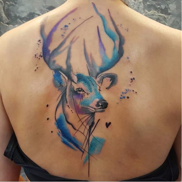 Simona Blanar: Watercolor Tattoos with a Heart