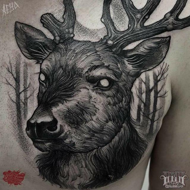 Tantalizing Blackwork Tattoos by Alex Underwood